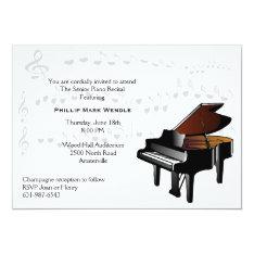 Baby Grand Piano Invitation at Zazzle