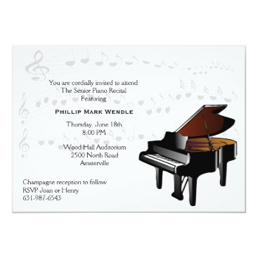 Toddler & Baby themed Baby Grand Piano Invitation