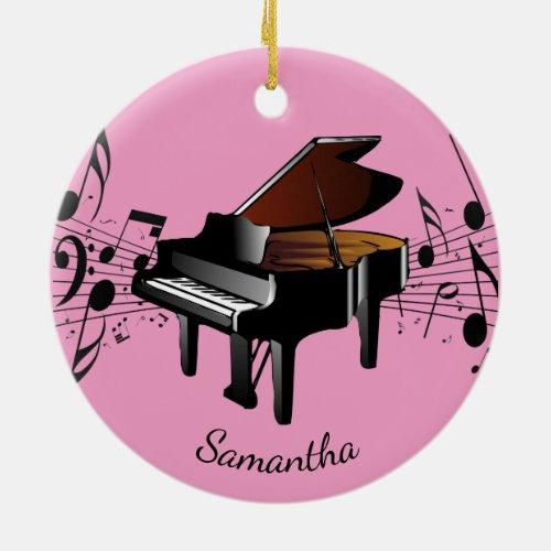Baby Grand Piano Musical Design Ornament