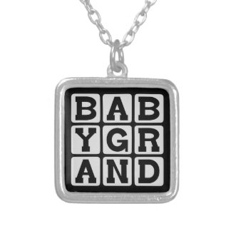 Baby Grand, Piano Musical Instrument Personalized Necklace