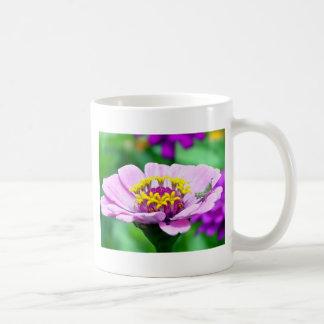Baby Grasshopper on  Pink Zinnia Coffee Mug