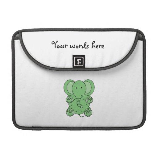 Baby green elephant sleeve for MacBook pro