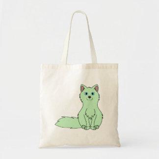 Baby Green Fox Sitting Tote Bag