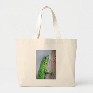 Baby green iguana bag