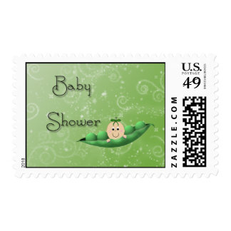 Baby Green Peapod Stamp