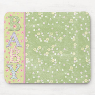 Baby Green Yellow Pink Roses  Mousepad Mouse Pad