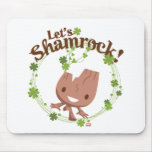 """Baby Groot """"Let's Shamrock!"""" Mouse Pad"""
