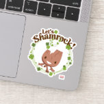 "Baby Groot ""Let's Shamrock!"" Sticker"