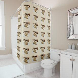 Baby Ground Squirrel Bathroom Shower Curtain