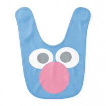 Baby Grover Face Shape Pattern Bib
