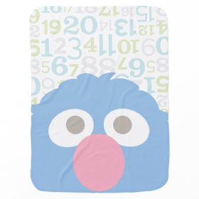 Baby Grover Face Stroller Blankets
