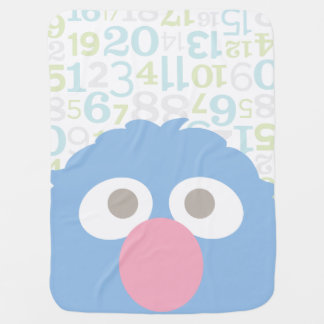 Baby Grover Face Swaddle Blanket