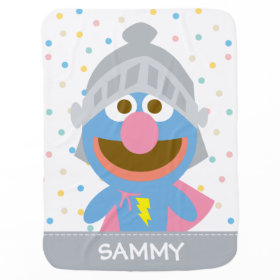 Baby Grover in Armor Swaddle Blanket