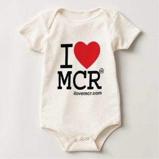 Baby grow - I Love Manchester MCR Baby Bodysuit