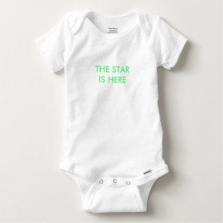 Baby grow - 'star is here' baby onesie