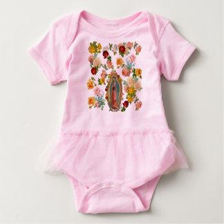 Baby Guadalupe Tutu Bodysuit (pink)