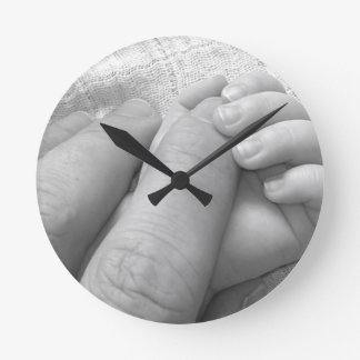 Baby Hand Fingers Hands Hold Grasping Gentle Soft Round Clock