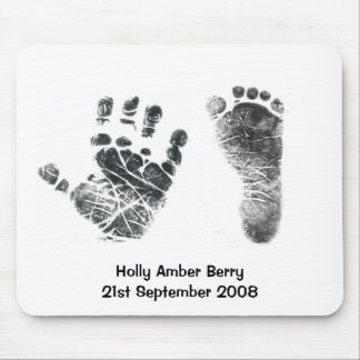 Baby Hand & Foot Imprint Mousemat Mouse Pads