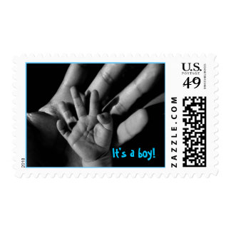 baby hands postage stamp