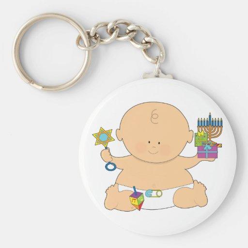 Baby Hanukkah Basic Round Button Keychain