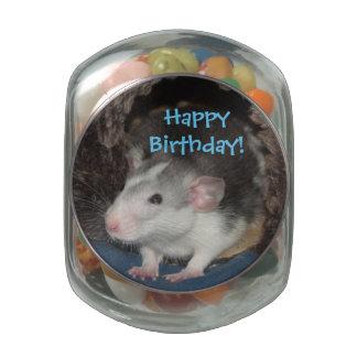 baby Happy Birthday Dumbo rat candy tin