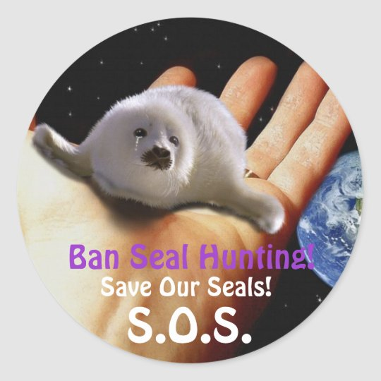 BABY HARP SEAL Anti Seal-Hunt Sticker