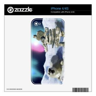 Baby Harp Seal Aurora & Inukshuk Wildlife Skin For iPhone 4S