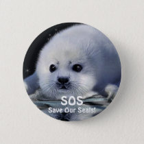 BABY HARP SEAL Button Design