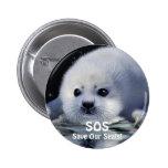 BABY HARP SEAL Button Design