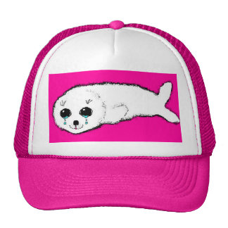 Baby Harp Seal Trucker Hats