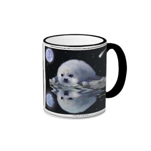 Baby Harp Seal & Moon Wildlife Supporter Gift mug