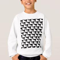 baby harp seal Pattern on black Sweatshirt