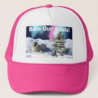 Baby Harpseal & Inukshuk Wildlife Supporter Hat