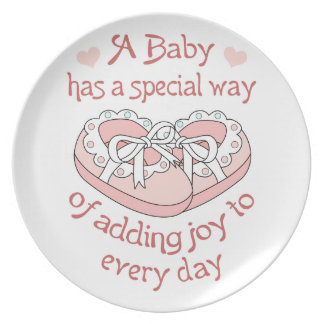 BABY HAS A SPECIAL WAY DINNER PLATES