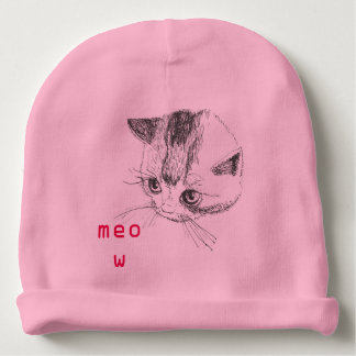Baby Hat Kitty Cat Drawing Pink Color