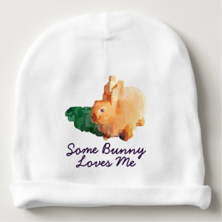 "Baby Hat: ""Some Bunny Loves Me"" Baby Beanie"