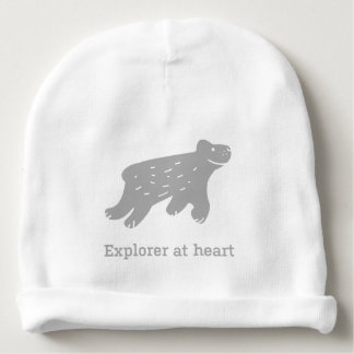 """Baby hat with dog """"Explorer at heart"""""""