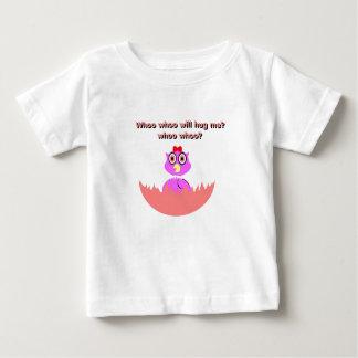 Baby hatchling girl owl lavender baby T-Shirt