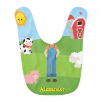Baby Head Little Farmer | Fun, Silly Custom Baby Bib