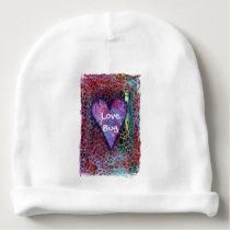Baby Heart Animal Print Infant Beanie Cap