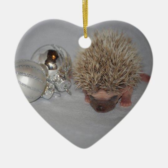 Baby Hedgehog Christmas Ornament