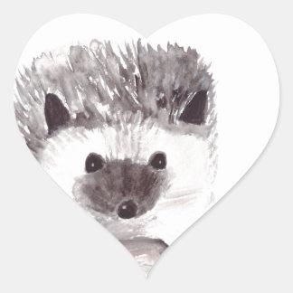 baby hedgehog heart sticker
