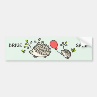 Baby Hedgehog's Red Balloon Bumper Sticker