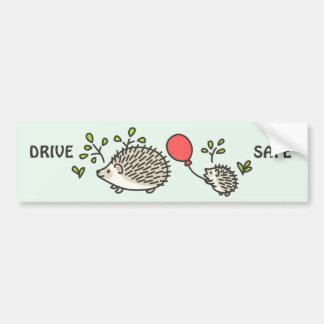 Baby Hedgehog's Red Balloon Car Bumper Sticker