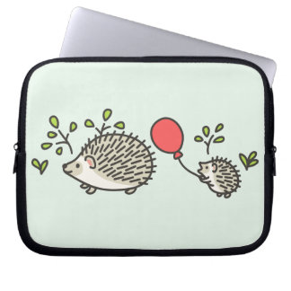 Baby Hedgehog's Red Balloon Computer Sleeves