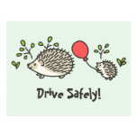 Baby Hedgehog's Red Balloon Postcard