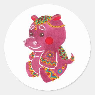 Baby Hippo Classic Round Sticker