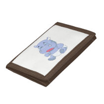 Baby Hippo Crying Trifold Wallet