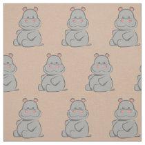 Baby Hippo Fabric