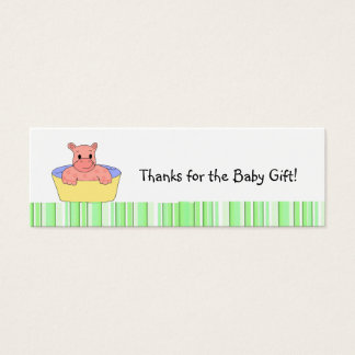 Baby Hippo Thank You Mini Business Card